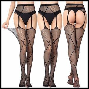 ❤️NEW Sexy Fishnet Garter Belt Stockings #S1138